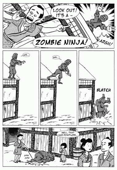 Look Out! It's A Zombie Ninja!