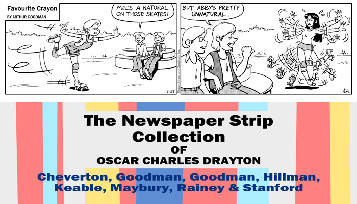 "Favourite Crayon - 23rd July 1975. Excerpt from ""The Newspaper Strip Collection of Oscar Charles Drayton""."