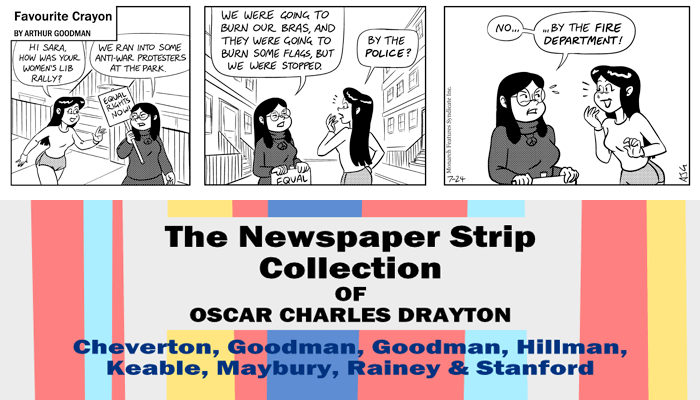 "Favourite Crayon - 24th July 1975. Excerpt from ""The Newspaper Strip Collection of Oscar Charles Drayton""."