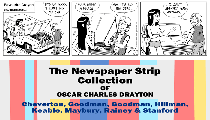 "Favourite Crayon - 25th July 1975. Excerpt from ""The Newspaper Strip Collection of Oscar Charles Drayton""."