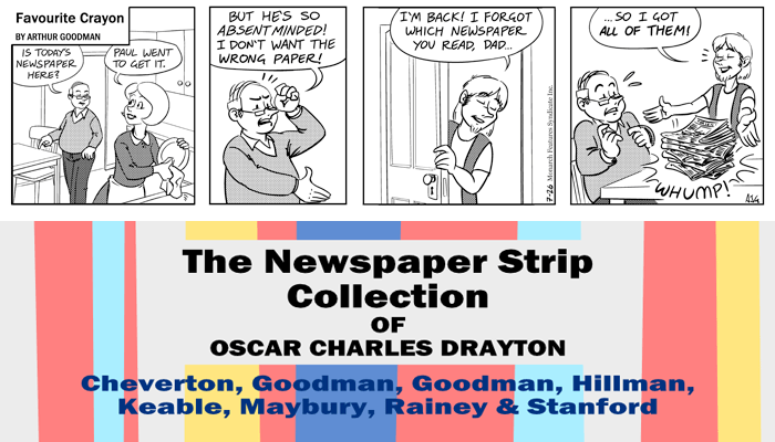 "Favourite Crayon - 26th July 1975. Excerpt from ""The Newspaper Strip Collection of Oscar Charles Drayton""."