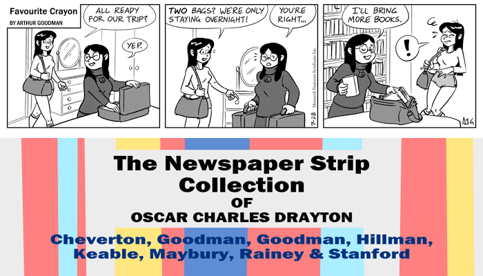"Favourite Crayon - 28th July 1975. Excerpt from ""The Newspaper Strip Collection of Oscar Charles Drayton""."